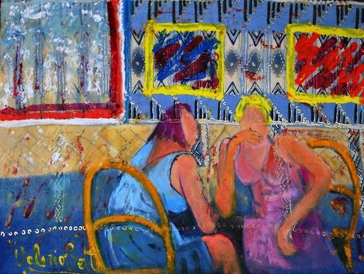 Valerio BETTA - Peinture - Amiche in oriente, confidenze
