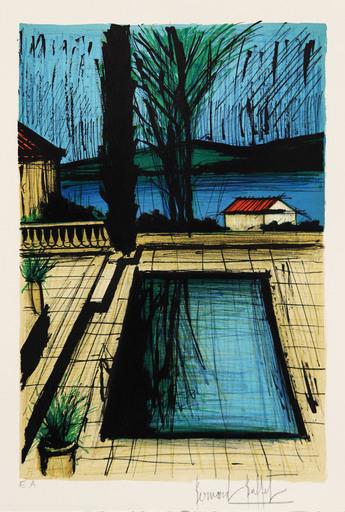 Bernard BUFFET - Grabado - La piscine de la maison