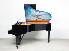 """Salvador DALI - Peinture - """"Untitled"""" (Known as the Piano of Mozart)"""