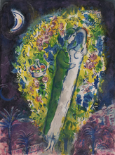 Marc CHAGALL - Estampe-Multiple - Couple in Mimosas, from: Nice and the Côte d'Azur