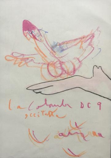 Roberto MATTA - Drawing-Watercolor - La colomba DC9 eccitata