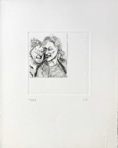 Lucian FREUD - Estampe-Multiple - A Couple