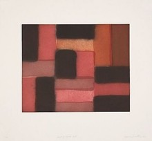 Sean SCULLY - Print-Multiple - Wall of Light (Red)