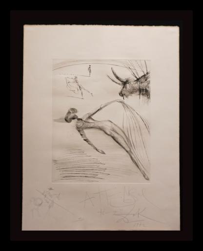 Salvador DALI - Grabado - La Cogida y la Muerte with Original Drawing