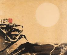 刘国松 - 水彩作品 - Metamorphosis of the Moon
