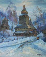 Vasil SVALJAVCIK - Pintura - Holzkirche