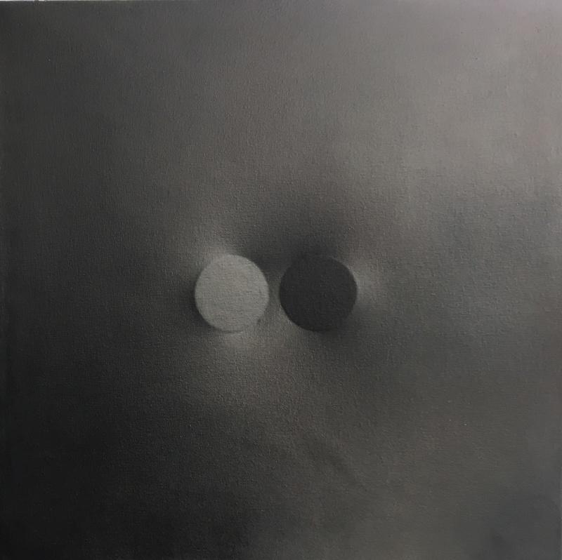 Turi SIMETI - Painting - 2 OVALI NERI