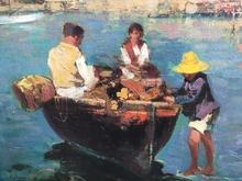 Giovanni PANZA - Pintura - Pescadores