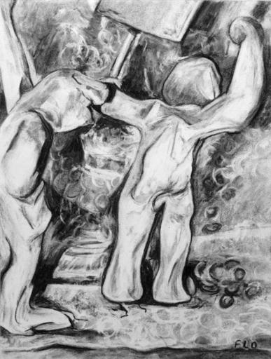 Flo JAOUEN - Drawing-Watercolor - « Il était un petit homme 1 »