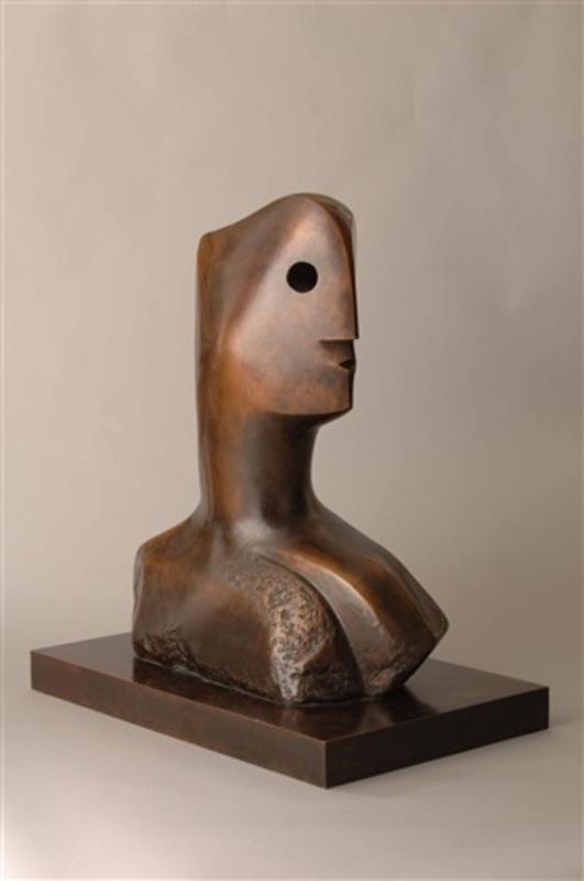 Henry MOORE - Sculpture-Volume - Head - Sold