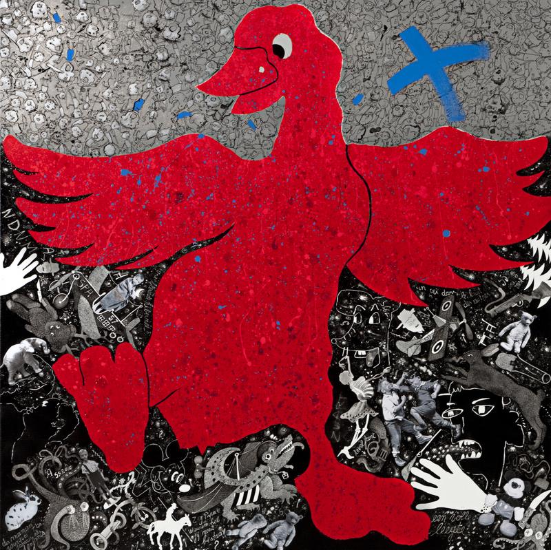 Christian SILVAIN - Pintura - De beschermer