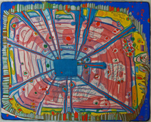 Friedensreich HUNDERTWASSER - Estampe-Multiple - Rain of Blood is Falling into the Garden