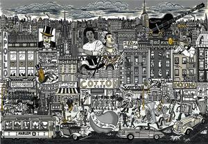 Charles FAZZINO - Stampa-Multiplo - Harlem all that jazz
