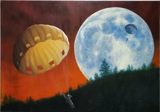 Julio FIGUEROA BELTRAN - Painting - Emergency Landing