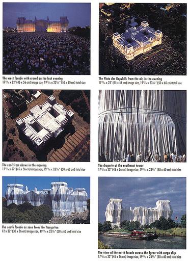 CHRISTO - Print-Multiple - Reichstag Mappe II, 6 Blatt