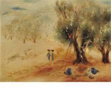 Reuven RUBIN - Pintura - Landscape near Sefat