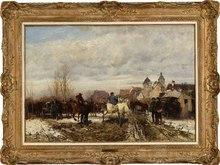 Wilhelm VELTEN - Painting - The Horse Market