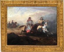 Horace VERNET - Pintura - Arab horsemen during the battle