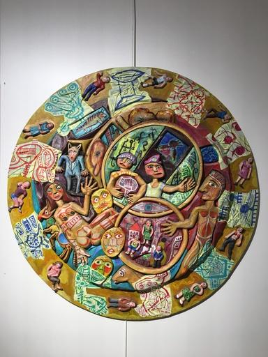 Mario CHICHORRO - 绘画 - La folie des planètes