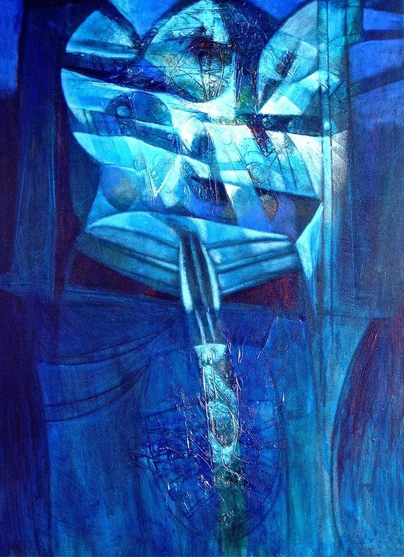 Raul ENMANUEL - Pintura - Solos Azules