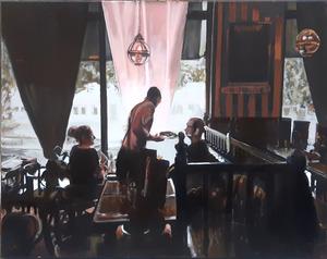 Pierre RIOLLET - Peinture - Family Lunch