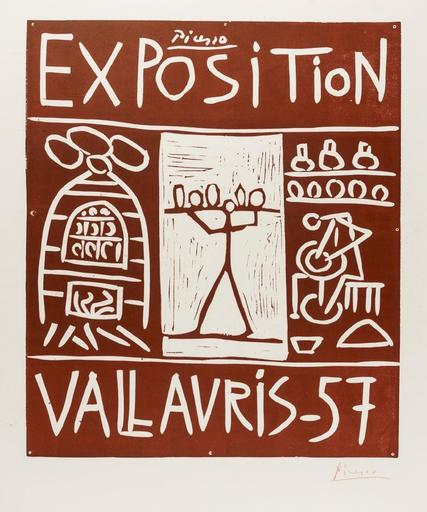 Pablo PICASSO - Stampa-Multiplo - Exposition Vallauris '57