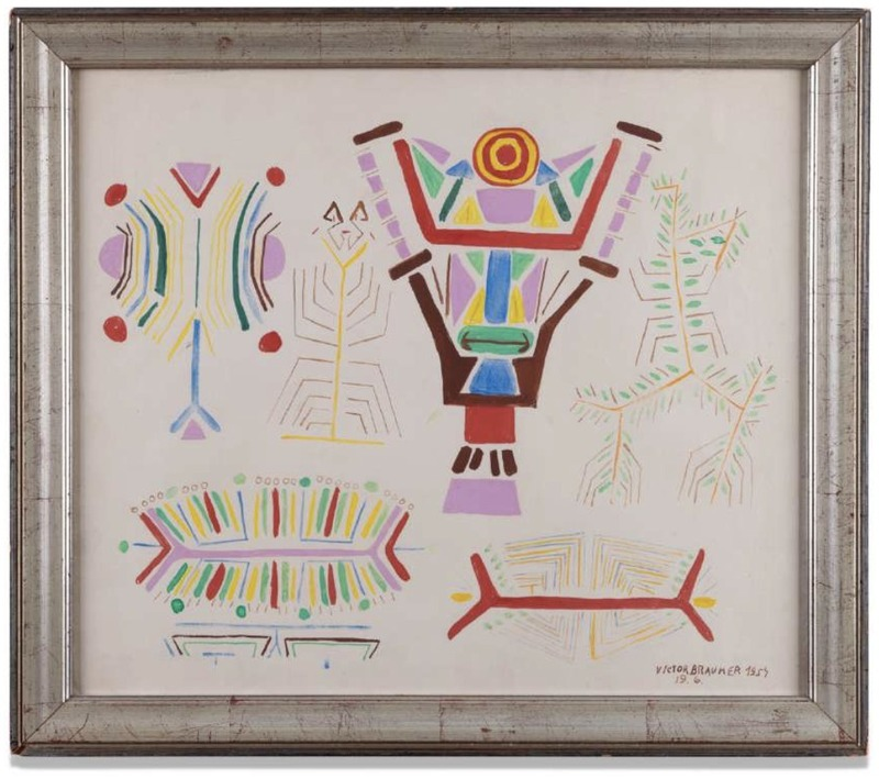 Victor BRAUNER - Drawing-Watercolor - Composition