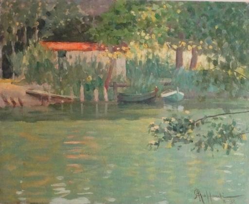 Attilio GUFFANTI - Gemälde - Bord d'étang