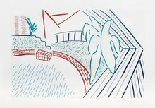 David HOCKNEY - Grabado - My Pool and Terrace