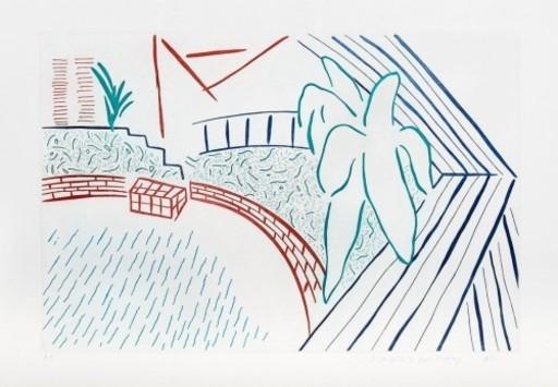 David HOCKNEY - Print-Multiple - My Pool and Terrace
