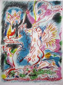 André MASSON - Print-Multiple - Les incertitudes de Psyche