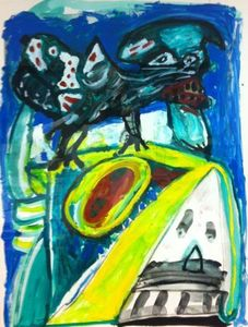 LUCEBERT - Painting - untitled