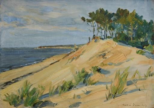André DAUCHEZ - Gemälde - La baie d'Arcachon