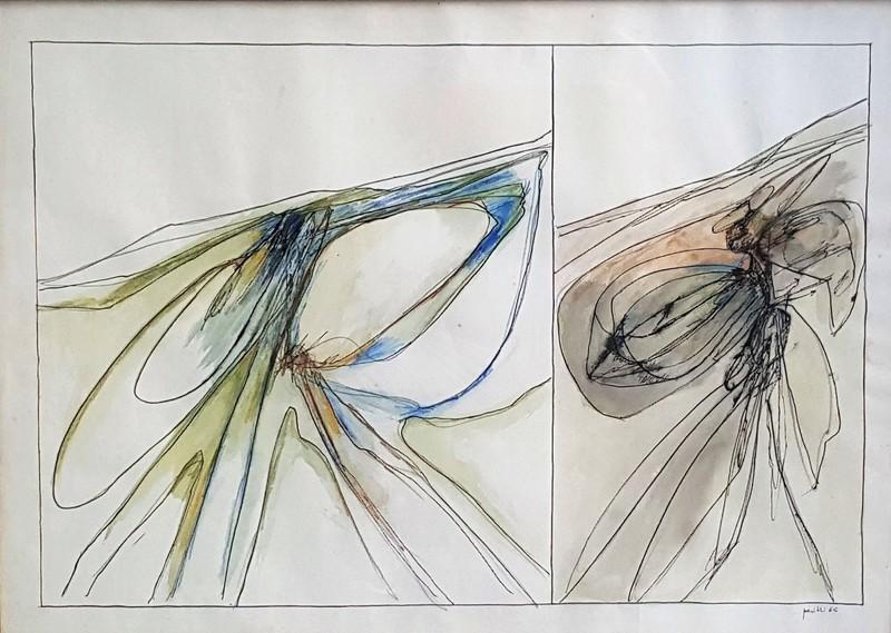 Achille PERILLI - Dibujo Acuarela - Fumetti
