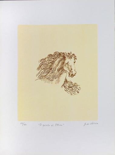 Giorgio DE CHIRICO - Grabado - Il cavallo di Ettore, 1971