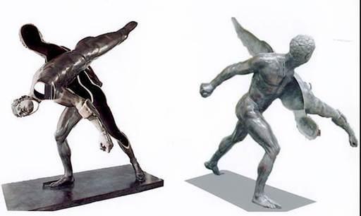 Fernandez ARMAN - Sculpture-Volume - Le Gladiateur Borghese