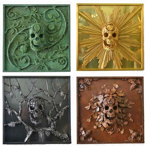 Alain BELLINO - Sculpture-Volume - Les 4 saisons
