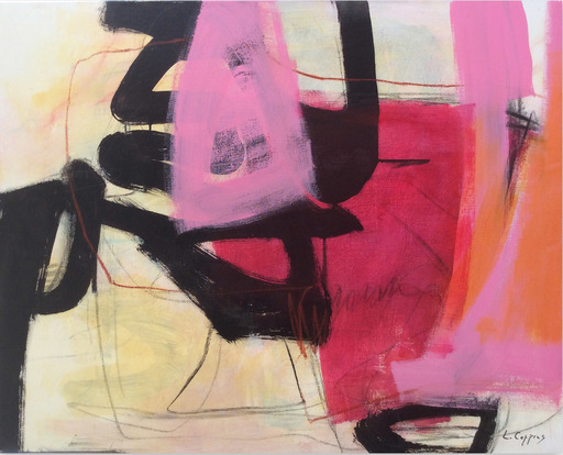 Linda COPPENS - Painting - Relation 2