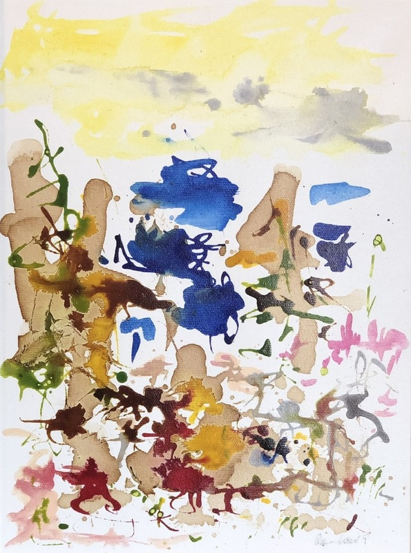 Nicole LEIDENFROST - Gemälde - Coffee Time - Landschaft abstrakt