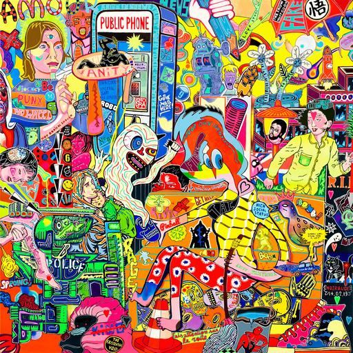 "Guive KHOSRAVI - Painting - ""Love STORY"""