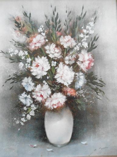 Serge CUCCA - Peinture - Nature morte au bouquet de fleurs.