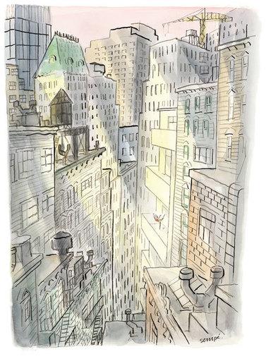Jean Jacques SEMPÉ - Dessin-Aquarelle - Sempé à New-York