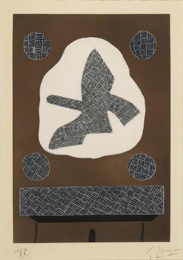 Georges BRAQUE - Grabado - Oiseau de passage