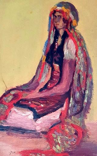 Moshé Elazar CASTEL - 绘画 - Girl from Jerusalem