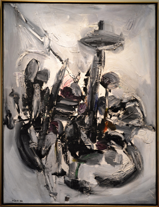 Ladislas KIJNO - Painting - Abstract Composition