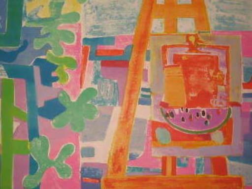 Roger BEZOMBES - Druckgrafik-Multiple - L'atelier de l'artiste,1960