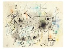 Joan MIRO - Zeichnung Aquarell - Untiled