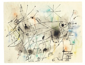 Joan MIRO - Drawing-Watercolor - Untiled