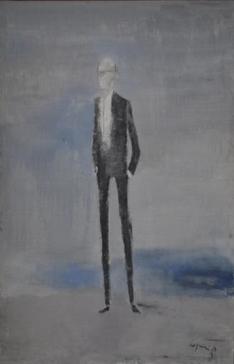 Franco ROGNONI - Pintura - Nonno sulla spiaggia