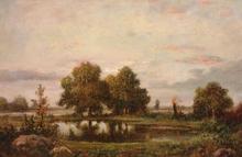 Théodore ROUSSEAU - Pintura - Campagne Pres de Fountainebleau